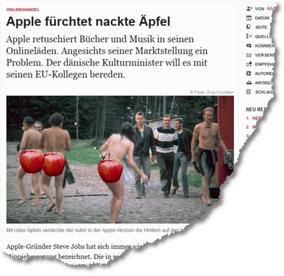 2011-11 Zeit Artikel Äpfel Apple
